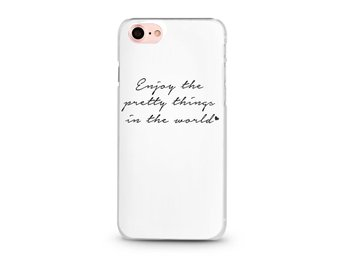 iDiwa LYX Skal för iPhone 7 - Enjoy the pretty things in the world (Vit)