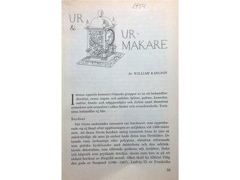 UR & URMAKARE av William Karlson. Rikt illustrerad. - Hässleholm - UR & URMAKARE av William Karlson. Rikt illustrerad. - Hässleholm