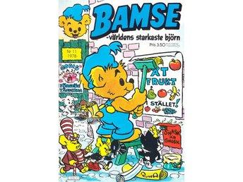 Bamse nr 11 1978 / VF / mycket snygg - Vallentuna - Bamse nr 11 1978 / VF / mycket snygg - Vallentuna