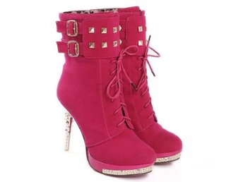 Dam Boots Boot Woman Brand Quality Shoes Footwear Red 34