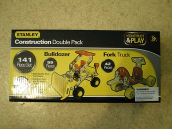STANLEY. Construct&Play. Construction Double Pack, Bulldozer och Fork Truck.