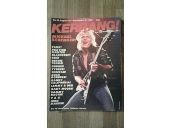 Kerrang #23 aug-82. Schenker. Iron Maiden. Lemmy  m.m