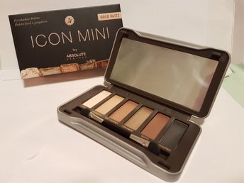 Absolute New York Icon Mini Eyeshadow Palette Gold Glitz