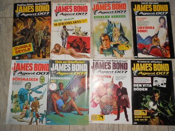 8 st JAMES BOND AGENT 007 NR 1,2,3,4,5,6,7,8 1983