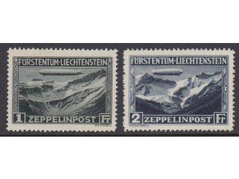 Liectenstein. M 114-115 **. Zeppelin. Katv 650:- €. VACKERT OBJEKT. - Sollentuna - Liectenstein. M 114-115 **. Zeppelin. Katv 650:- €. VACKERT OBJEKT. - Sollentuna
