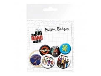 The Big Bang Theory Knappar 6-pack