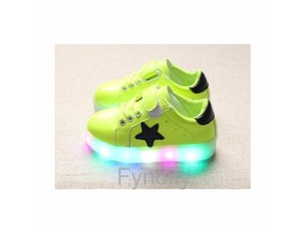 Barnskor Glowing Sneakers LED Strlk 30 Grön