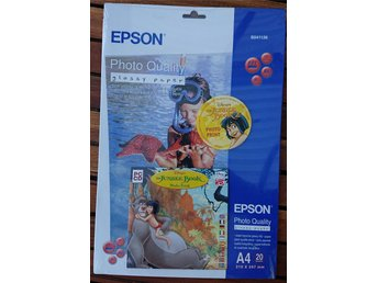Epson Photo Quality Glossy Paper A4 20-pack + fotoprogram S041126 (NY INPLASTAD)