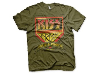KISS ARMY - LOUD & PROUD DISTRESSED LOGO T-SHIRT STORLEK 3XL