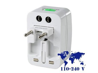 NY!All-in-1 Universal Travel Adapter+Surge Protector kontakt