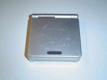 Nintendo Gameboy Advance SP GBASP Basenhet Konsol Silver + laddarkabel
