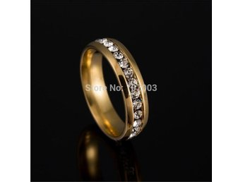 Never Fade 18k Gold Plated 316l Stainless Steel Ring Titanium Steel Engagement