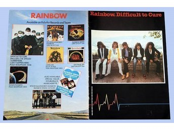 Rainbow - Turneprogram från Difficult to cure turnen (1981)