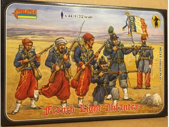 FRENCH LIGHT INFANTRY  CRIMEAN WAR    Stretlets 1/72 Byggsats