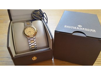 Baume & Mercier Lady´s Champagne Riviera 18k Gold & Stainless Steel Geneve Swiss