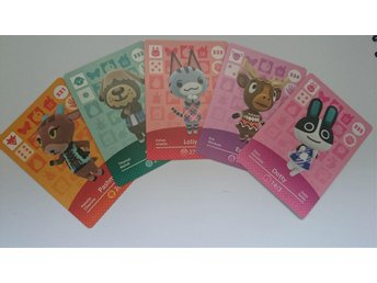 Animal Crossing Amiibo Cards series 4 Nr 331 - 335