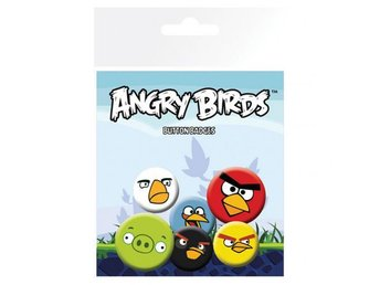 Angry Birds Knappar 6-pack