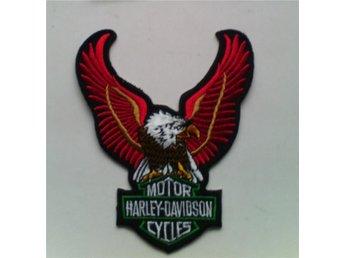 ***OVANLIGT Snygg Broderat Harley Davidson ÖRN m Lim 11 cm** - Sandviken - ***OVANLIGT Snygg Broderat Harley Davidson ÖRN m Lim 11 cm** - Sandviken