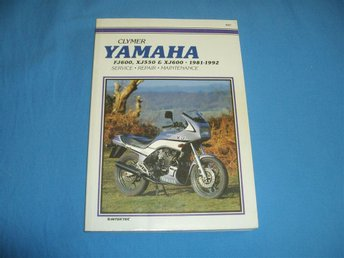 CLYMER Manual Service, Repair, Maint. YAMAHA FJ 600, XJ 550, XJ 600, 1981 - 1992