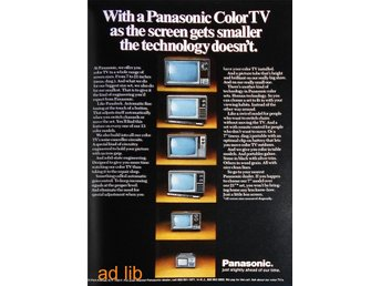 PANASONIC COLOR TV, TIDNINGSANNONS Retro 1972
