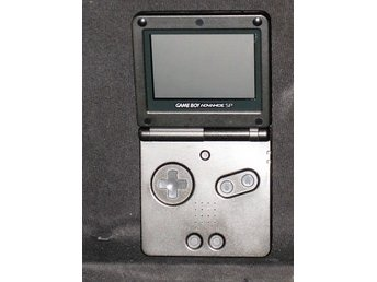 Game Boy Advance SP Black Edition -  AGS.001 + Laddare