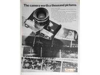 CANON - THE CAMERA WORTH A THOUSAND PICTURES TIDNINGSANNONS Retro 1968