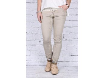 Fanny Michel jeans nya taupe/beige 38