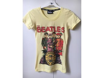 Gul t-shirt med Beatles-tryck, ONLY, strl XS