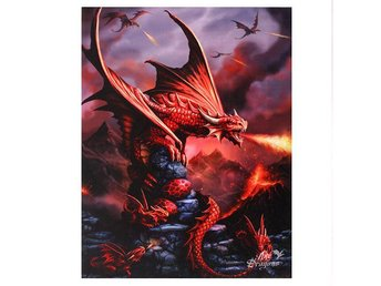 Canvas Tavla - Fire Dragon