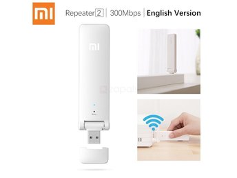Xiaomi Mi USB2.0 Wifi Trådlös Booster Repeater 2 Extender 2.4Ghz 300mbps EULager