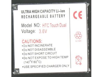 Battery For The HTC Touch Dual Li-Ion Slim P024