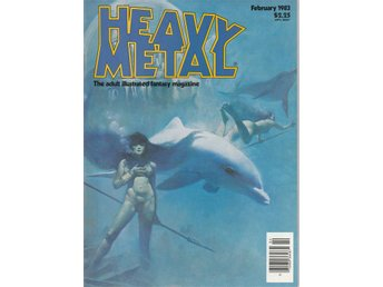 HEAVY METAL ADULT FANTASY MAGAZINE FEBRUARY 1983