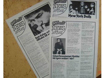 Rock pop Tidningen Ny Musiks News letter Nr 2,3,4 1973