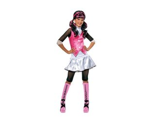MONSTER HIGH Draculaura 5-7 år Hel Dress Klänning Dräkt Monsters
