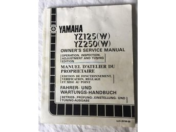 Yamaha YZ-125 - 250 (W) Owner's Service Manual