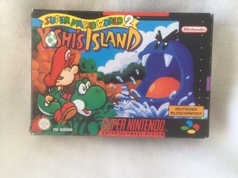 SNES Super Mario World 2 Yoshis Island, PAL, tysk version med svensk manual