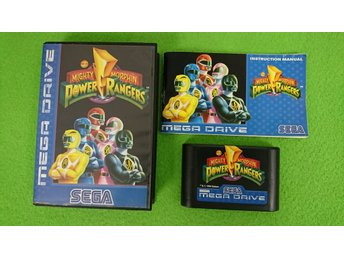 Mighty Morphin Power Rangers KOMPLETT Sega Megadrive spiderman