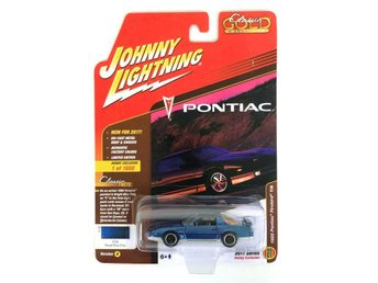 1985 Pontiac Firebird Trans Am 1/64 Johnny Lightning blå