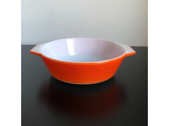 Söt orange form *JAJ MADE IN ENGLAND* Skål-Retro-Ugnsform-Glasskål