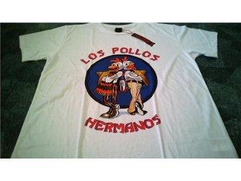T-shirt. Vit. Exclusive A. Breaking Bad. Los Pollos. XL - Solna - T-shirt. Vit. Exclusive A. Breaking Bad. Los Pollos. XL - Solna