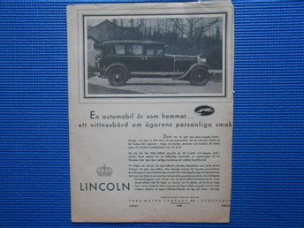 Annons Lincoln Automobil Ford Motor company