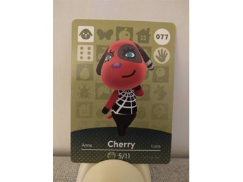Animal Crossing Amiibo Welcome Amiibo card nr 077 Cherry