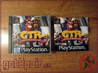 Crash Team Racing CTR till Sony Playstation / PS1 - NORDISK UTGÅVA