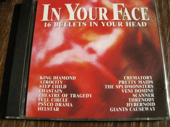 IN YOUR FACE - KING DIAMOND,CHASTAIN, PRETTY MAIDS MFL, CD