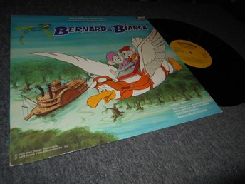 Bernard & Bianca (LP) Disney Hemmets Journal Gul label VG++/VG++