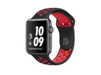 Sport Band 38/40mm Apple Watch Armband - (BLACK / RED)