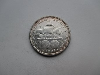 USA, 1/2 dollar, 1893 Columbus discovery