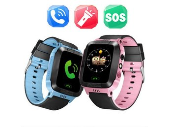 b0b8ee58b0fd Barn Smart Klocka Smartwatch +Telefon med Anti-Lost GPS Tracker Android IOS  BLÅ