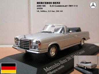Mercedes-Benz 280SE 3.5 Cabriolet 1970 - Skala 1:43 - FAST PRIS! - Bandhagen - Mercedes-Benz 280SE 3.5 Cabriolet 1970 - Skala 1:43 - FAST PRIS! - Bandhagen