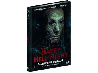 HAPPY HELL NIGHT (Blu-Ray+DVD) (RARE) Mediabook 111 ex! Sam Rockwell -1992 UNCUT